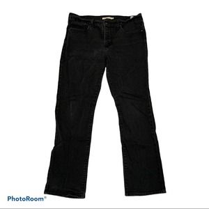 Levis 314 shaping straight Jean Pants Black